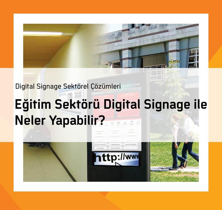 Eğitim Sektörü Digital Signage ile Neler Yapabilir?